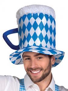 ölhatt blå vit till oktoberfest