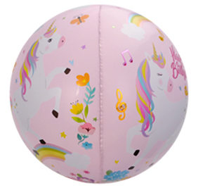 Unicorn folieballong i sfär