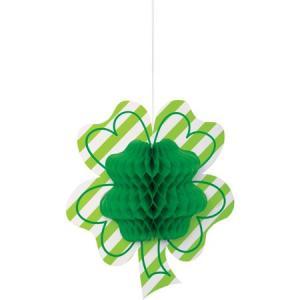 st. Patrick klöverblad grön honeycomb
