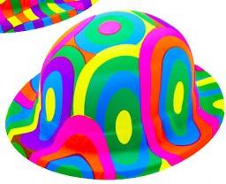 Clown hatt runda mönster