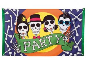 Party day of dead banner