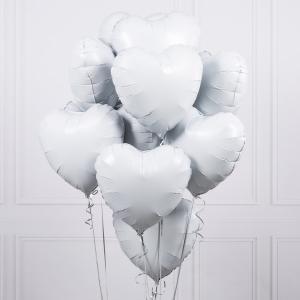 Alla hjärtansdag bukett vit