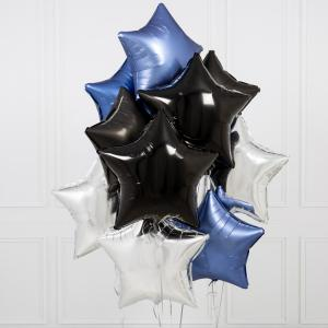 helium ballongbukett stjärnor Gotham