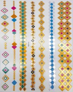 metallisk Tatuering indie färglad tribal