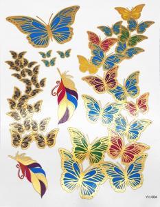 metallisk Tatuering fjärilar