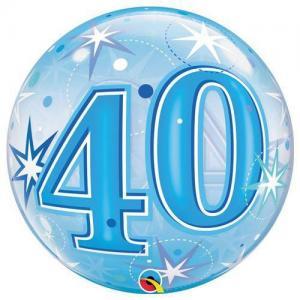 Bubbles ballong 40 år blå