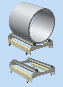 Plåtvagga för 700 mm band, max 500 kg
