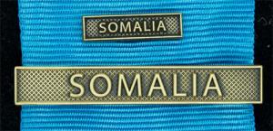 Bandspänne - SOMALIA - till stor medalj+miniatyrmedalj