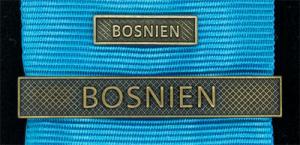 Bandspänne - BOSNIEN - till stor medalj+miniatyrmedalj