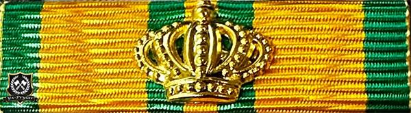 Nijmegen med krona i putsad brons