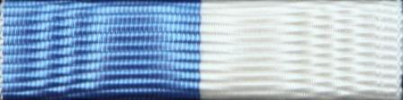 Ljusblå/vit