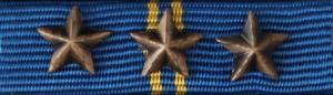 Hemvärnets Bronsmedalj med tre stjärnor