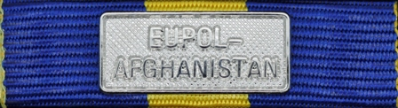 EUFOR EUPOL AFGHANISTAN Silver