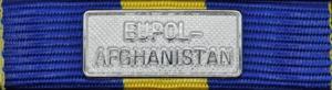 EUFOR EUPOL AFGHANISTAN Silver