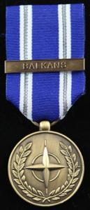 NATO Balkans medalj