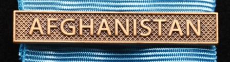 Bandspänne - AFGHANISTAN - till stor medalj