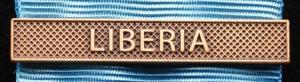 Bandspänne - LIBERIA - till stor medalj