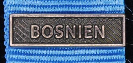 Bandspänne - BOSNIEN - till miniatyrmedalj