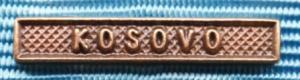 Bandspänne - KOSOVO - till miniatyrmedalj