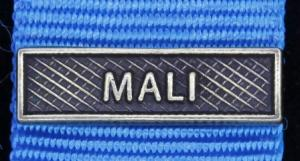 Bandspänne - MALI - till miniatyrmedalj