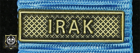 Bandspänne - IRAK - till miniatyrmedalj