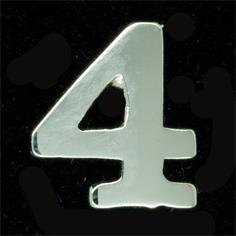 Siffra No:4 till FN släpspänne/medalj
