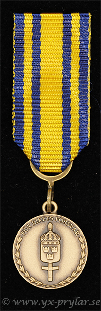 Försvarsmaktens tjänstgöringsmedalj för rikets försvar i brons