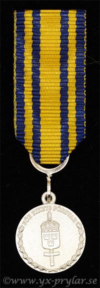 Försvarsmaktens tjänstgöringsmedalj för rikets försvar i silver