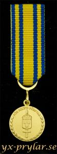 Försvarsmaktens tjänstgöringsmedalj för rikets försvar i guld