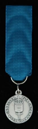 Försvarsmaktens belöningsmedalj för internationella insatser i silver