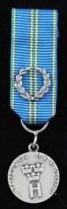 Hemvärnets silvermedalj med lagerkrans