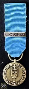 Försvarsmaktens medalj för internationella insatser i brons med bandspänne -AFGHANISTAN-