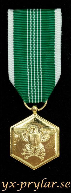 Army Commendation medal miniatyrmedalj i guld