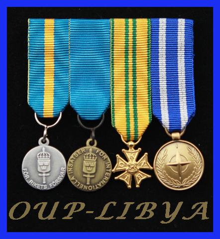 Monterade miniatyrmedaljer FMVPLsm, FMintBM, Nijmegen, NATO OUP-LIBYA