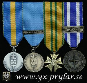 Monterade miniatyrmedaljer FMVPLsm, FMintBM, Nijmegen, NATO BALKANS