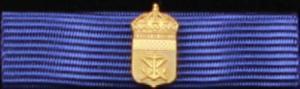 Marinbasens förtjänstmedalj i guld