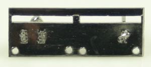 Monteringsskena för 2 miniatyrmedaljer