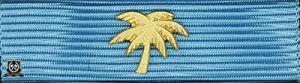 Försvarsmaktens medalj för internatioenlla insatser i brons med palm i guld