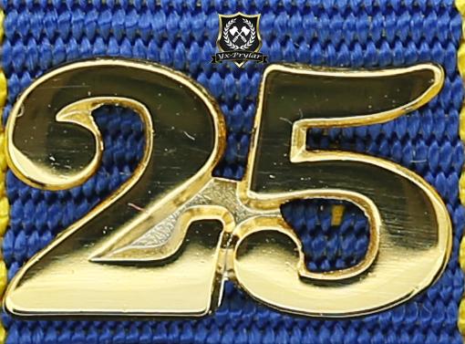 Siffra för 25 tjänsteår till hemvärnets tjänstgöringsmedalj