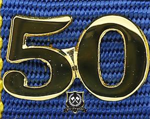Siffra för 50 tjänsteår till hemvärnets tjänstgöringsmedalj