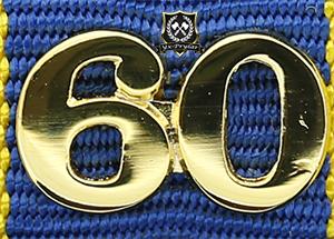 Siffra för 60 tjänsteår till hemvärnets tjänstgöringsmedalj