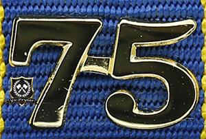 Siffra för 75 tjänsteår till hemvärnets tjänstgöringsmedalj
