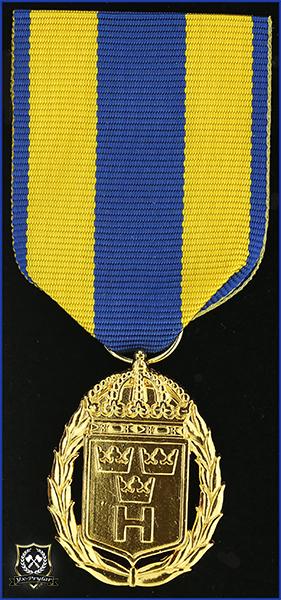 Hemvärnets tjänstgöringsmedalj i guld