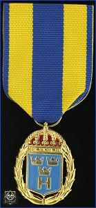 Hemvärnets tjänstgöringsmedalj i guld med emalj för 30 tjänsteår