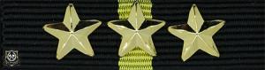 Politimedaljen med 3 stjerner (***)