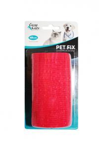 Bandagebinda PetFix Easy Care 10x450cm Röd