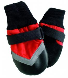 FPC  Allväders skor 4 st., XS, röd/svart, tasslängd 7 cm,Sheltie, Mini Schnauzer,Mini Poodle