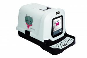 M-PETS Suez Love cat kattoalett svart/vit