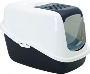 Nestor kattlåda - vit/svart, 56 x 39 x 38,5 cm