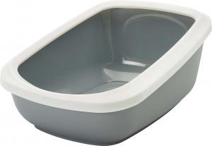 Aseo Jumbo katt-toalett 67,5x48,5x28cm, grå/vit